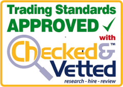 Reds Removals are a Trading Standards Approved moving company registered with Checked & Vetted
