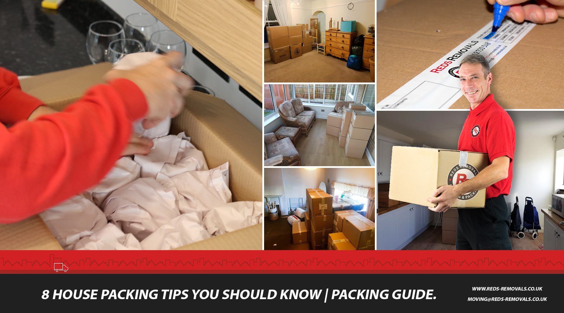 Ultimate packing guide | 8 packing tips to make your house move easy | Reds Removals