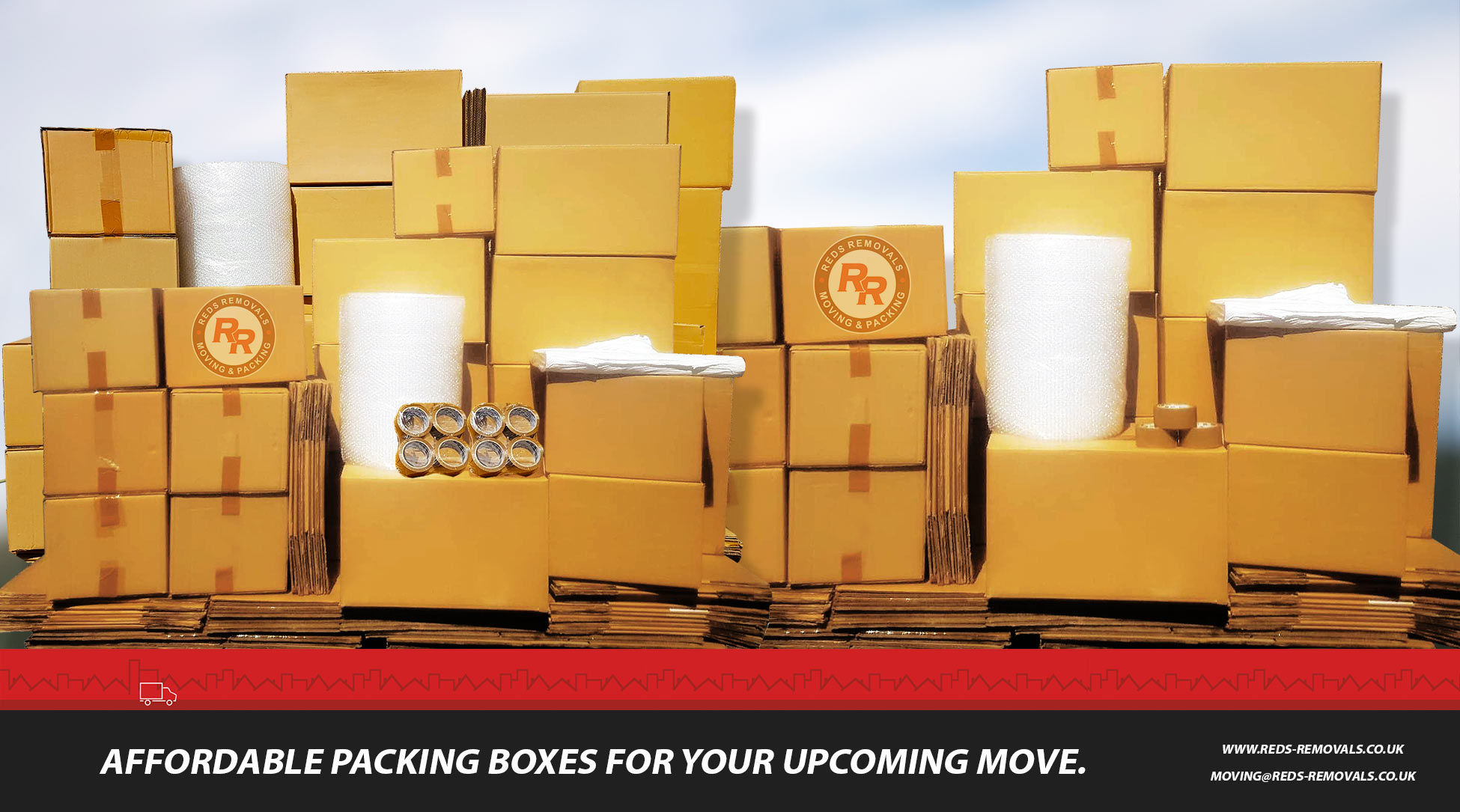 Packing Boxes   Packing Materials   Reds Removals packing service in Stockton-on-tees, North East.