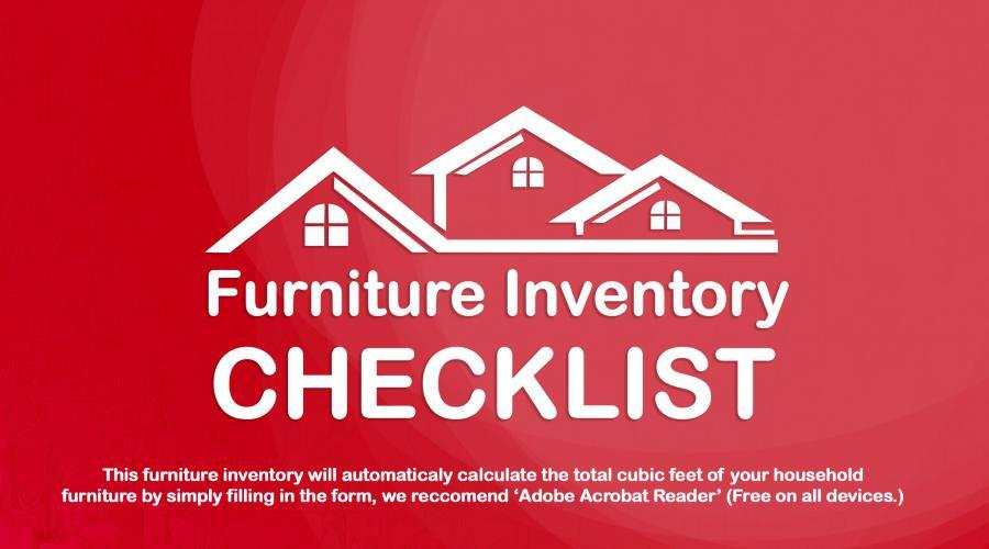 Furniture inventory list for moving home