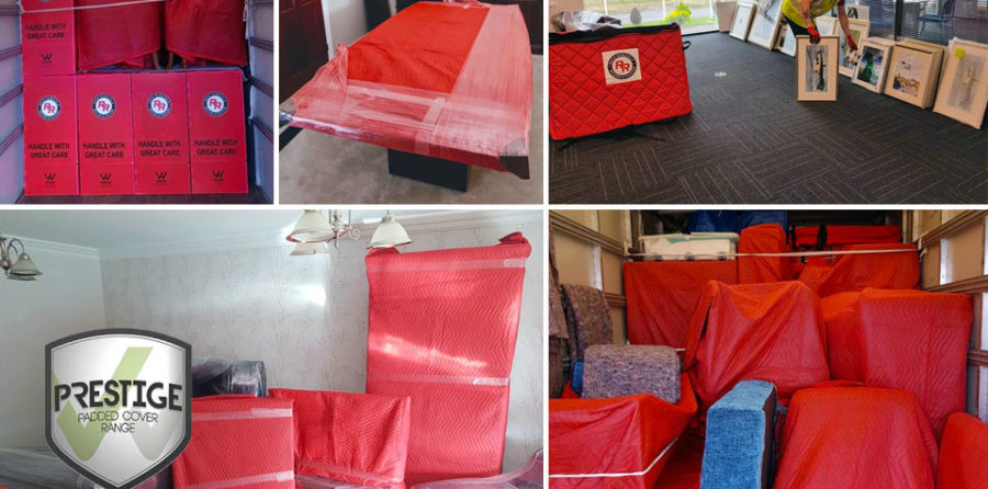 Reds Removals protecting furniture prior to removal in Darlington, Middlesbrough, Hartlepool & Stockton