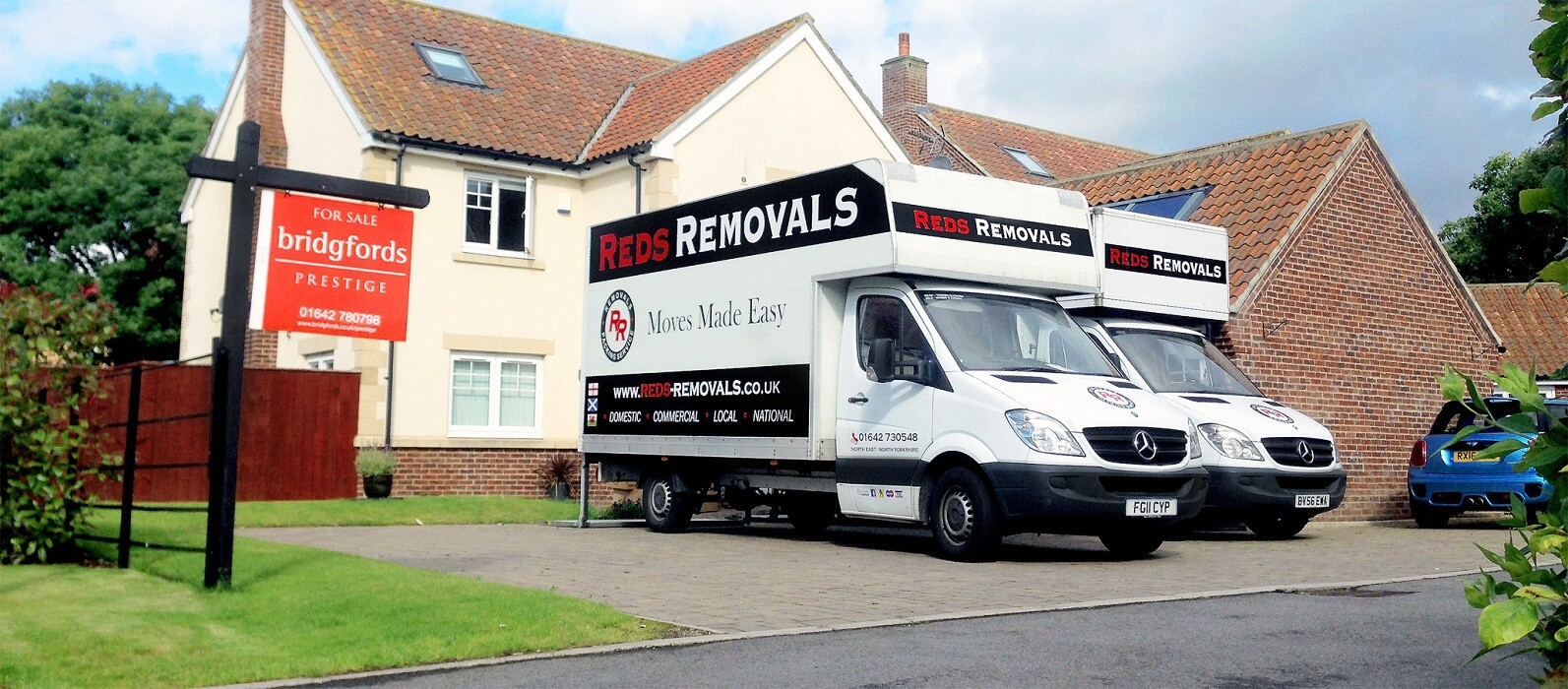 Moving Vans move a house in Stockton on Tees